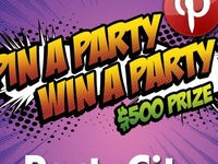 """PARTY CITY'S PIN A PARTY WIN A PARTY CONTEST"""