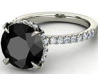 Love: Black Stone Rings
