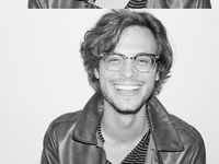 The rather sexy but nerdy Matthew Gray Gubler and the equally beautiful cast of Criminal Minds.