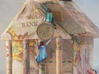 Images about bank on pinterest coins sculpture and newspaper dress
