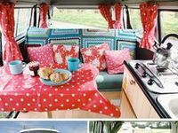 VW camper decor and gypsy-style tent camping ideas