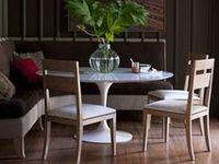all manner of dining nooks...breakfast, formal, informal, cozy, etc.