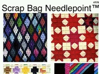 Scrap Bag Needlepoint: Can use up all that extra/odd thread.