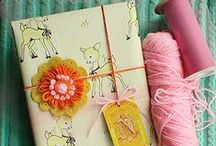 gift wrapping ideas / by Heather Burdette