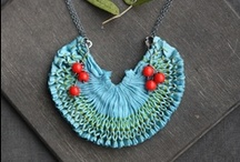 Fabric  jewelry / by LunaDeCoco