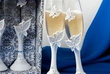 Wedding Toasting Flutes / Wedding Toasting Flutes by Think Favours