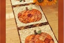 Patchwork Table Runners / Jennifer Bosworth of Shabby Fabrics has designed a series table runners featuring quick patchwork and simple applique. The complete series will adorn your table for an entire year! See the rest of Jennifer's quilt designs at www.ShabbyFabrics.com.