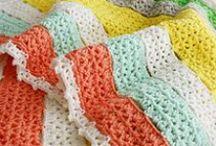 Crochet Corner: Afghans /  crochet baby blankets, afghans, throws... / by Navy Wifey Peters   USS Crafty