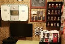 Craft Closet / ideas for a small craft room/closet / by Navy Wifey Peters   USS Crafty