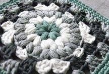 Crochet Corner: Grannies+ / Crochet granny squares, hexagons, circles, flowers, etc. / by Navy Wifey Peters   USS Crafty