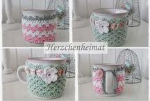 Crochet Corner: Tea Time! / crochet tea cozies, mug rugs, and tea pot covers / by Navy Wifey Peters   USS Crafty