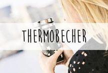 Thermobecher ♥️ / Wenn du auch unterwegs nicht auf dein heiß geliebtes Heißgetränk verzichten willst, sind Thermobecher super praktisch und sehen nebenbei auch noch super stylisch aus.