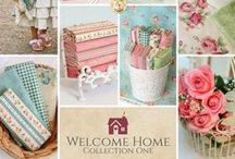 Welcome Home - Collection One / Welcome Home Collection One is a beautiful floral collection by Jennifer Bosworth and Team Shabby for Maywood Studio