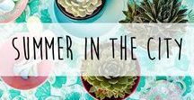 Summer in the city ♥️ / Summer in the city - Terrassen Trends 2017