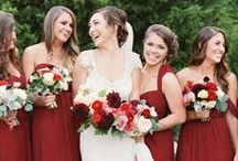 Red Weddings / red: smooth like a glass of wine, juicy like a tomato, tart like a cherry, sweet like cinnamon, bright like crimson, rich like burgundy  / by Elizabeth Anne Designs