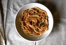 Pastas of all shapes and sizes / by Donna Zuckerberg