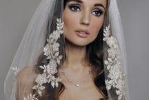 Bridal Head Pieces / Wedding veils and hair decorations / by Kelli Peduzzi