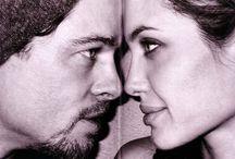 Angelina Jolie e Brad Pitt / by Luciana Melo