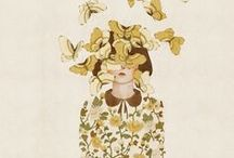 Magic / Magical, wonderful, whimsical, creative, expressive, excited, flower filled, pattern filled, fairy tale images.