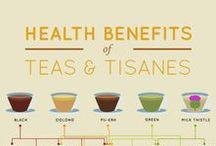 Tea Health Benefits / Health and wellness benefits of tea and tisanes. Their calming, soothing and relaxing properties for improving wellness and mental health.