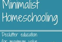 Minimalist Homeschooling / Minimalist homeschooling is a simple homeschool, full of the best things.  Fill your homeschool with only the things you need and love!  Huge list of posts explaining minimalist homeschooling and how to make it happen.