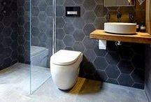industrial bathroom redo inspiration / Inspiration for updating my city loft bathroom