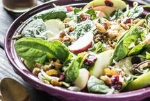 Food: Salads & Side Dishes / Salads, Salads, and More Salads. They come in every size and flavor, sweet to savory.