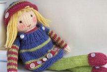 Knitted dolls and their clothes / Dolls to make and dress true inspiration! / by Kathleen Nelson