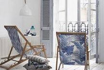 Beach House / Beach decor--blue, aqua, white, greens and natural tones of the sea used anywhere in any room to evoke the beach. / by Colleen Allison