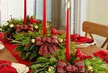 Christmas-Decorations/Table Setting Ideas / Decorations, tips and idea's. / by Linda Finni