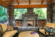 Backyard-Fireplace & Other Ideas / Nothing like an fire at night & other great ideas. / by Linda Finni