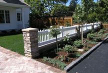 Outdoor-Front Yard Fence Ideas / Fence line idea's. / by Linda Finni