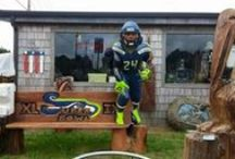 Seahawk-Football Season Decorations / Outdoor Idea's for Football Season   / by Linda Finni