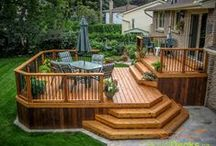 Backyard-Deck Idea's / Deck's / by Linda Finni