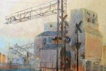 Industrial Paintings / Original oil paintings by April Raber.  http://aprilr.com