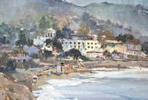 Laguna Beach and Crystal Cove Paintings / Original oil paintings of Laguna Beach and Crystal Cove by artist April Raber