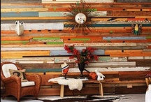 Wall Treatment Love / Interesting wall treatments for the bohemian inspired home