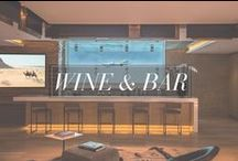 Wine & Bar / Great inspiration to create a perfect Home Bar from The Agency.