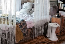 Scarves // decorate your bedroom