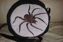 Spider Drum Bag / A beautiful drum bag. Spiders and webs were the inspiration for this one. Made is March 2012