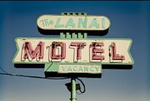 Retro Signs, Retro Awesomeness / I have developed a love for retro signs.. I've seen a few on my travels in North American and one day I would love to do a back road journey across the US to find and photograph these gems for myself