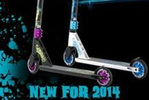 Our Scooters / All of the Slamm Scooters come in a variety of colours and designs!