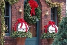 Christmas -- Entry-Swags-Wreaths / christmas christmas christmas entry entry swags swags wreaths wreaths outside decoration inside decoration / by Mariel Hale