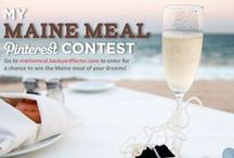 "My Maine Meal / We'll make your dream meal a reality! Create your own ""My Maine Meal"" board on Pinterest and Pin all the elements of your ideal meal - the food, the setting, the decor. At the end of the contest, we'll bring one person's ""My Maine Meal"" board to life and build a one-of-a-kind culinary experience for the winner and their guests.  To enter the ""My Maine Meal"" Pinterest contest, visit: mainemeal.backyardfarms.com / by Backyard Farms"