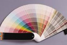 Paint! / Paint ideas for interior and exterior. Walls, doors, floors, furniture. Stencils. Color palettes.  / by Andrea Strawther