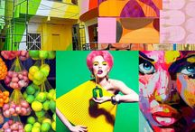 Colour mood boards