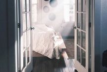 master bedroom // / my little corner of the house I can escape to and sink into a pile of big cozy blankets