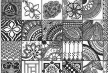 Zentangles II / Patterns, tutorials, samplers, boards,...