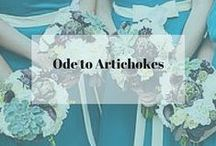 Ode to Artichokes / Beautiful and peculiar so let's have an Ode to Artichokes!  Did you know they are actually considered a flower?