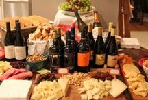 PARTY TIPS / How-to's for hosting a wine tasting party, celebrating with wine and cheese pairings, and tips for the hostess.